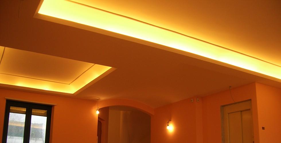 Controsoffitto con faretti sannio decor service for Controsoffitto salone