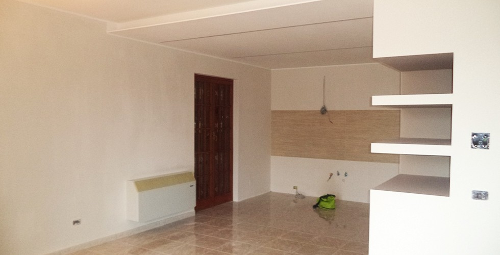 Lavorazioni in cartongesso cucina sannio decor service - Lavori di cartongesso in cucina ...